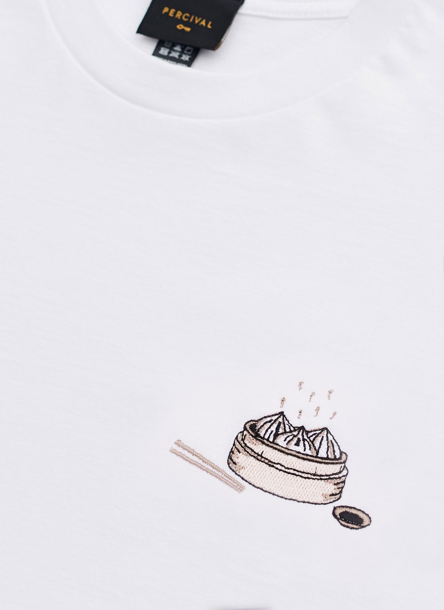 T Shirt | Dumplings | White