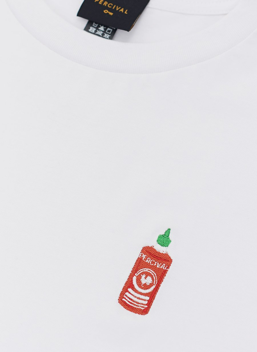 T Shirt | Hot Sauce | White