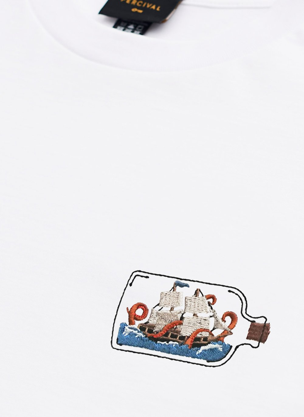 T Shirt | Kraken Bottle | White