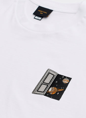 T Shirt | Brick Phone | White
