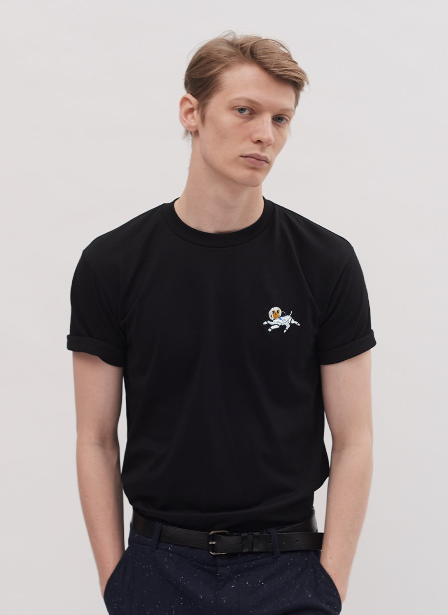 T Shirt | Space Dog | Black
