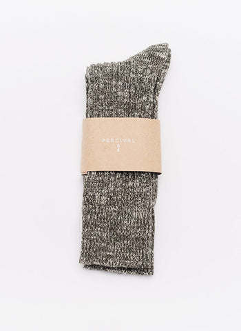 Socks | Blue Melange Cotton
