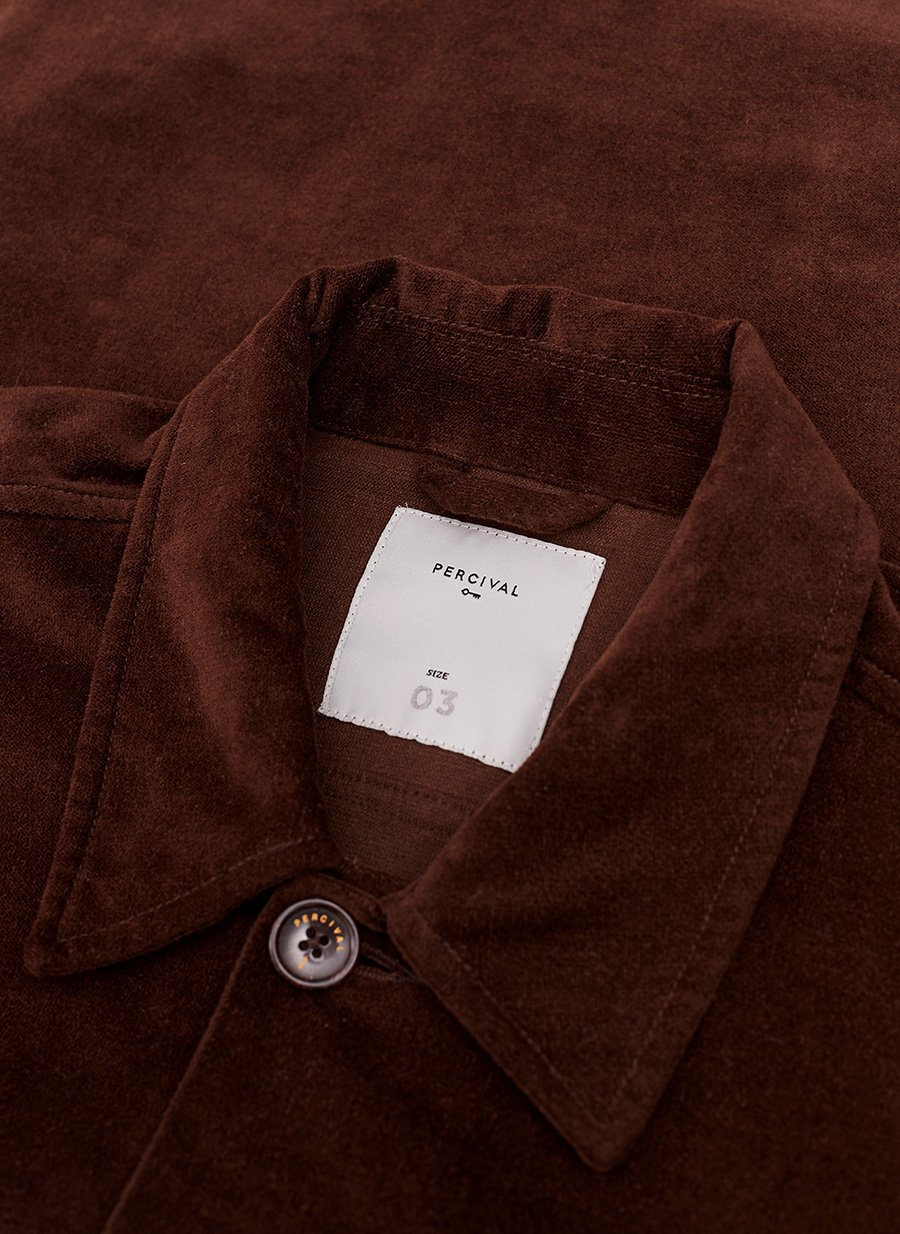 Vincent Button | Espresso Cotton Suede
