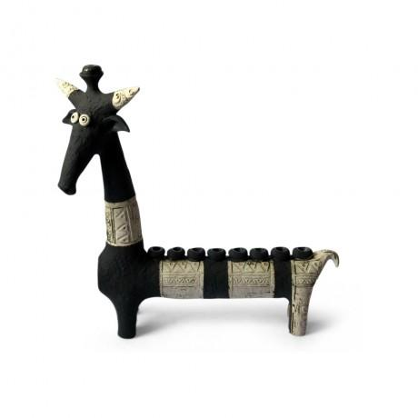 Black and White Giraffe Menorah by Inna Olshansky-menorah-AllThingsJewish.com