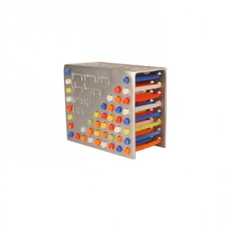 Box Menorah with Candle Storage by Yair Emanuel-menorah-AllThingsJewish.com