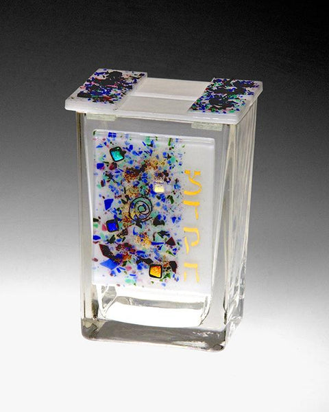 Colorful Tzedakah Box by Beames Designs-tzedakah box-AllThingsJewish.com