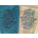 Cotton Blanket with Large Hamsa (baby blanket)-baby-AllThingsJewish.com