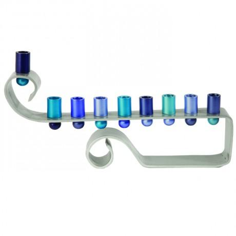 Curly Anodized Menorah by Yair Emanuel-menorah-AllThingsJewish.com