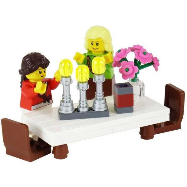 Custom LEGO® Shabbat Candles Set by Jbrick-toys-AllThingsJewish.com