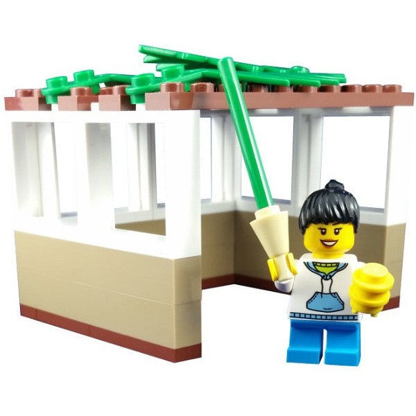 Custom LEGO® Sukkah with Girl by Jbrick-toys-AllThingsJewish.com