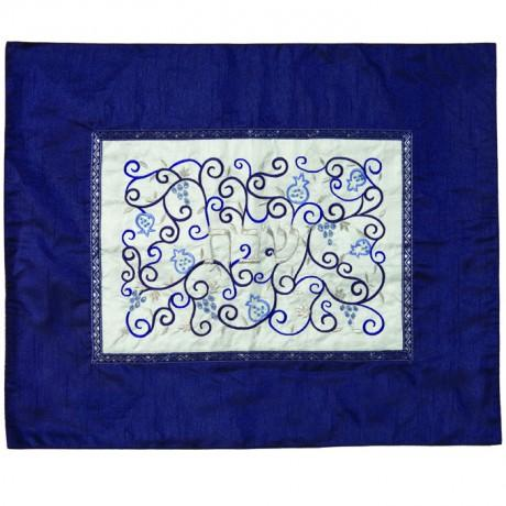Indigo Filigree Challah Cover by Yair Emanuel-challah cover-AllThingsJewish.com