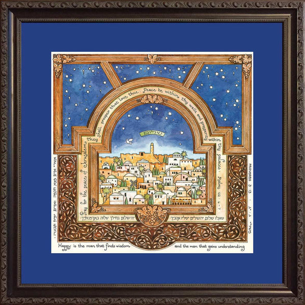 Jerusalem Man of Honor Print by Mickie Caspi-jewish art-AllThingsJewish.com