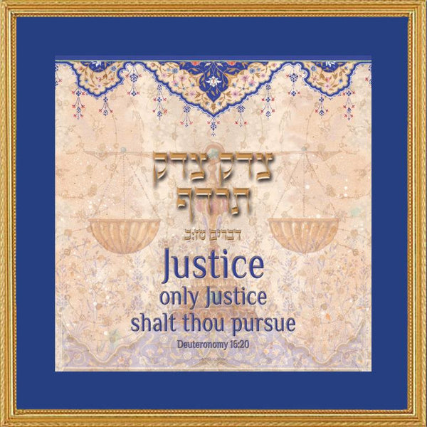 Justice Lawyers Creed by Mickie Caspi-jewish art-AllThingsJewish.com