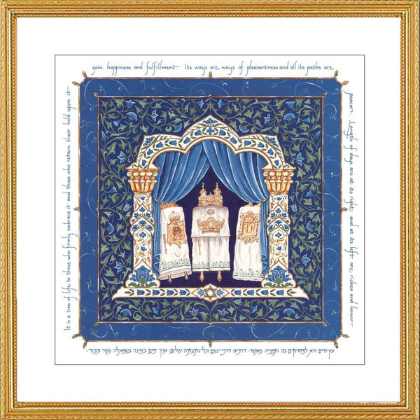 Man of Honor Torah Print by Mickie Caspi-jewish art-AllThingsJewish.com
