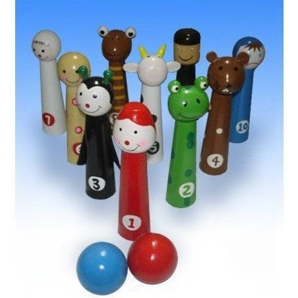 Passover Plagues Ten Pin Bowling Set-toys-AllThingsJewish.com