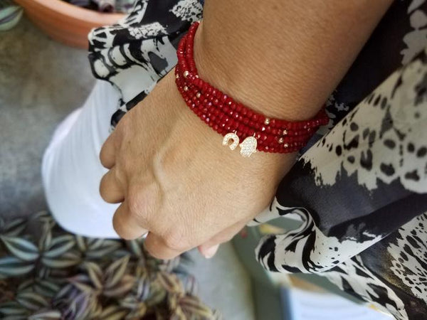 Ruby Red Good Luck Party Bracelet-jewelry-AllThingsJewish.com