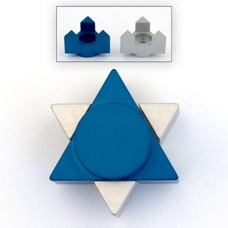 Star of David Traveling Shabbat Candlesticks by Agayof-shabbat candlesticks-AllThingsJewish.com