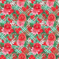 """Red Holiday Floral 114"" Heat Transfer Vinyl and Permanent Adhesive Vinyl"