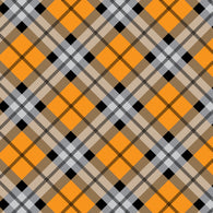 """Halloween Plaid 12"" Permanent Adhesive Vinyl and Heat Transfer Vinyl"