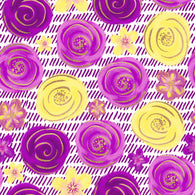 """Yellow and Purple Paradise""  - Adhesive Pattern Vinyl and Heat Transfer Vinyl Sheets"