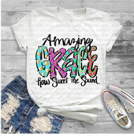 """Amazing Grace""  -Ready to Press Heat Transfer/Sublimation Transfer"