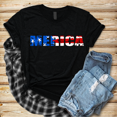 """Merica "" - Ready to Press Heat Transfer"