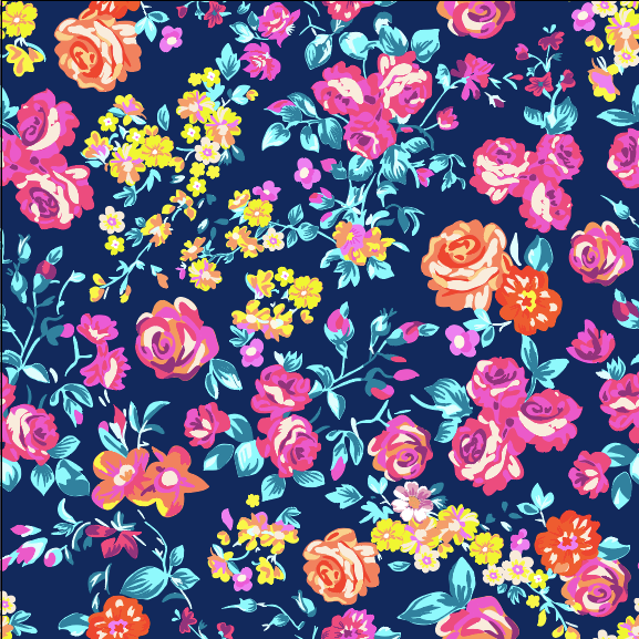 """Navy Blue Flowers"" - Pattern Vinyl and Heat Transfer Vinyl"