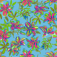 """Beachy Flowers"" Heat Transfer Vinyl Sheets and Permanent Craft Vinyl Sheets"