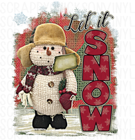 Let It Snow Snowman