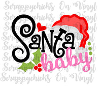 """Santa Baby ""  - Ready to Press Heat Transfers"