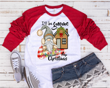 """Gnome for the Holidays""  -Ready to Press Heat Transfer/Sublimation Transfer, Christmas Gnome Transfer"