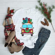 """VW Bus Christmas"" -Ready to Press Heat Transfer/Sublimation Transfer, VW Bus Christmas Transfer"
