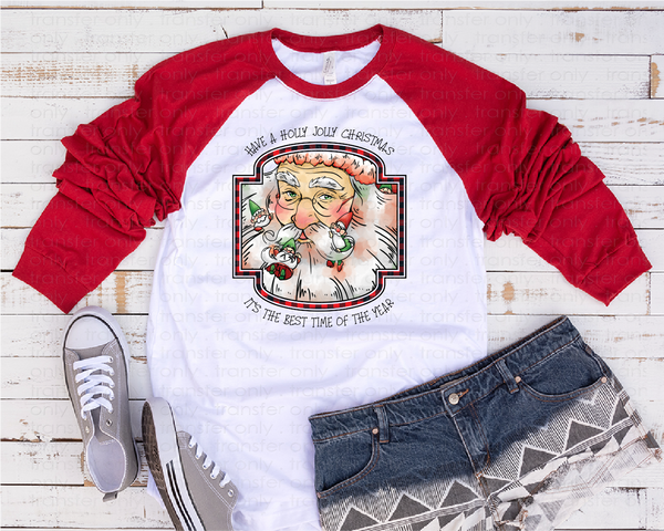 """Santa Claus""  -Ready to Press Heat Transfer/Sublimation Transfer"