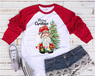 """Merry Christmas Gnome""  -Ready to Press Heat Transfer/Sublimation Transfer, Christmas Gnome Transfer"