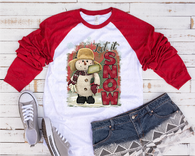 """Let it Snow Cute Snowman""  -Ready to Press Heat Transfer/Sublimation Transfer"