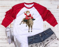 """Giddy Up Santa""   -Ready to Press Heat Transfer/Sublimation Transfer"