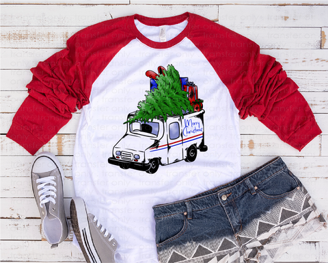 """USPS Christmas""   -Ready to Press Heat Transfer/Sublimation Transfer, USPS, Postal Worker Transfer"