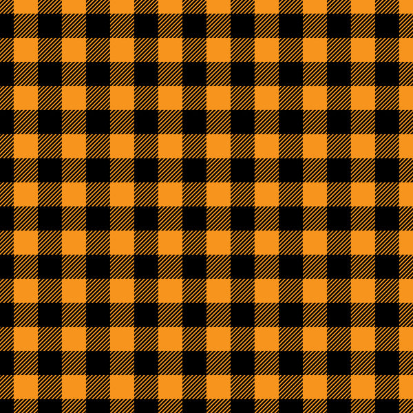 """Orange Black Buffalo Plaid"""