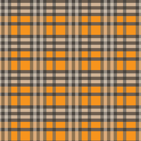 """Halloween Plaid 3"" Permanent Adhesive Vinyl and Heat Transfer Vinyl"