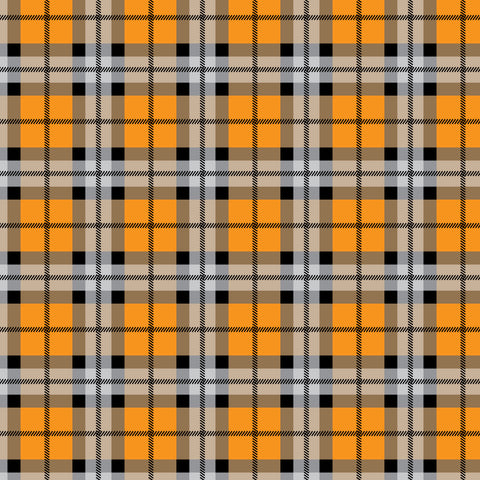 """Halloween Plaid 11"" Permanent Adhesive Vinyl and Heat Transfer Vinyl"