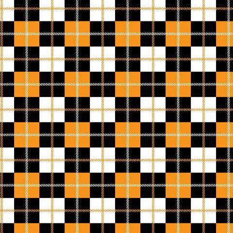 """Halloween Plaid 10"" Permanent Adhesive Vinyl and Heat Transfer Vinyl"