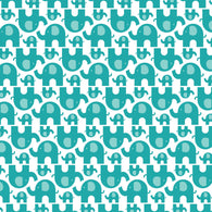 """Elephant Stampede"" Teal - Pattern Vinyl and Heat Transfer Vinyl"