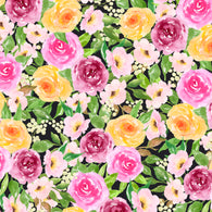"""Fancy Floral 6"" - Adhesive Pattern Vinyl and Heat ""Transfer Vinyl Sheets"