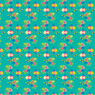 """Kissy Fish"" Aqua - Pattern Vinyl and Heat Transfer Vinyl"