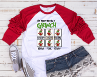"""Moods of Grinch""-Ready to Press Heat Transfer/Sublimation Transfer"