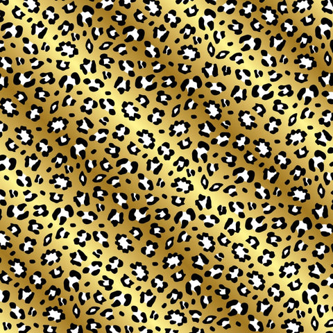 """Gold Cheetah Spots"" Permanent Adhesive Vinyl and Heat Transfer Vinyl"