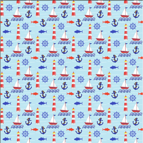 """Let's Go Sailing"" - Pattern Vinyl and Heat Transfer Vinyl"