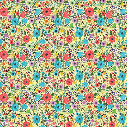 """Flower Fun"" Yellow - Pattern Vinyl and Heat Transfer Vinyl"