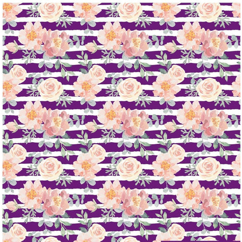 """Floral Stripes Plum"" - Pattern Vinyl and Heat Transfer Vinyl"