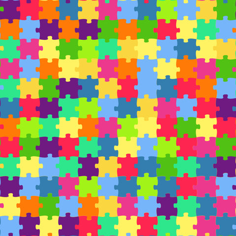 """Puzzle Multi Color"" Permanent Adhesive Vinyl and Heat Transfer Vinyl"